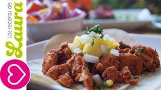 Tacos al pastor Saludables ¡De Pollo!♥Recetas Mexicanas Saludables♥How t...