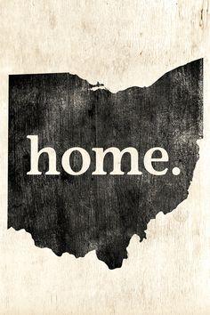 Ohio Home Poster Print - Keep Calm Collection