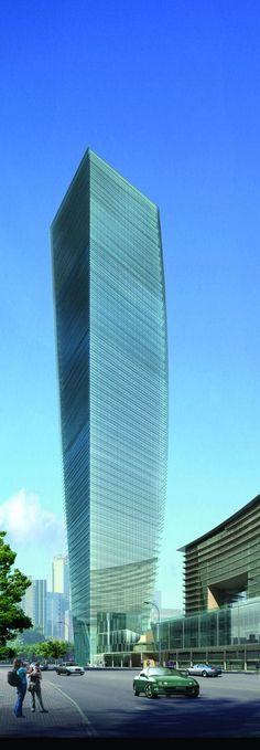 U-Bora Tower, Dubai, UAE by Aedas Architects :: 58 floors, height 263m