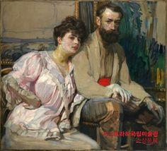 Frantisek Kupka, self-portrait with wife