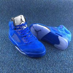 61d6d5b80511 Air Jordan 5 Blue Suede at - KicksOkok