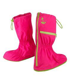 Love this Fuchsia Zip-Up Shoe Cover - Girls on #zulily! #zulilyfinds