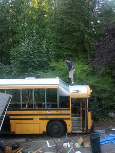 Bus roof conversion
