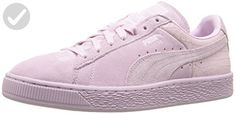 PUMA Women's Suede Classic Emboss Wn's Fashion Sneaker, Lilac Snow, 11 M US - Our favorite sneakers (*Amazon Partner-Link)