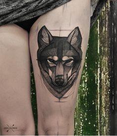 Creative wolf head.