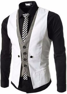 Slim fit in Asian size, designed for slim men, regardless of the height. It will fit like a glove if you are careful about the measurements. unique-outfit.com