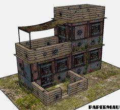 PAPERMAU: The Bunker Paper Model - by Papermau - New Work In Progress