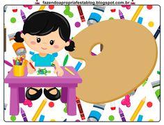 Olá queridos amigos ( as ) e seguidores do nosso Blog . Hj temos mais um Kit feito especialmente por mim ( Gabi Bonfim )p ajudar a colori... Kindergarten Classroom Decor, Art Classroom, Art Themed Party, Party Themes, Art Drawings For Kids, 3d Cards, Preschool Art, Head Start, Paint Party
