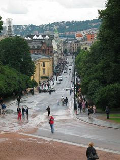 Oslo - pedestrian street, Norway - now the most expensive city for expats.