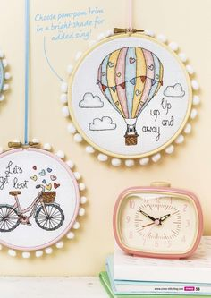 TS Travel Hoops by Fiona Baker 2/2 Cross Stitch Crazy Issue 204