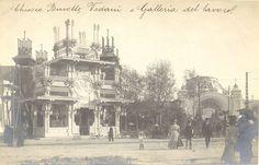 Milano, Expo 1906: Chiosco Buvette Vedani e Galleria del Lavoro