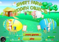 Play #SweetFarmHiddenObject2. Find all hidden objects in the sweet farm.