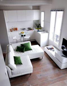 Die grote loungebank past zelfs in een kleine kamer!