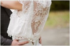 Back boho wedding dress | Image by Tiara Photography