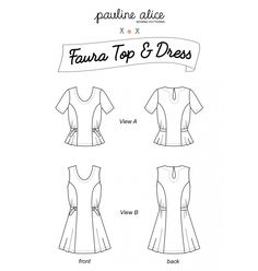 The Faura Top and Dress sewing pattern from Pauline Alice. Both views feature princess seams and are cinched at the waist with ties and D-rings. Sewing Blogs, Pdf Sewing Patterns, Dress Patterns, Print Patterns, Sewing Projects, Princess Seam, Princess Cut, Pauline Alice, Pattern Library