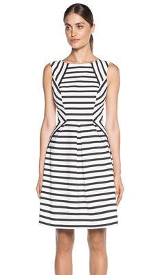 Cue Printed-Stripe-Dress W Dresses, Dresses For Work, Summer Dresses, Fashion Project, Office Dresses, Black White Stripes, Fashion Pictures, Striped Dress, Fancy Dress