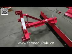 tractor 3point grader blade with rippers , quality farm tool for land leveling works - YouTube Tractor Accessories, Tractor Implements, Farm Tools, Tractors, Landing, Blade, It Works, Youtube, Agricultural Tools