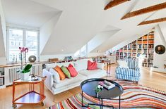 Colorful penthouse in Stockholm