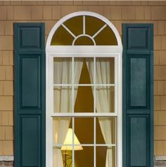 Evocative of traditional colonial design, our raised panel shutters add a touch of old-world style. Elegant panel dimensions with deep shadow lines dress up any exterior with simple sophistication. Raised Panel Shutters, Window Shutters, Colonial Style Homes, Old World Style, Green Colors, Blue Green, Patio Doors, Sliding Glass Door, Home Look