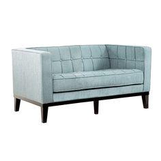 Armen Living LC10102SB - Roxbury Loveseat Spa Blue   Sale Price: $1,099.00