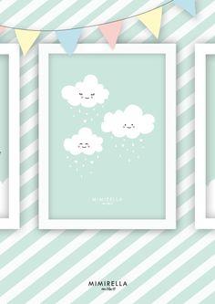"""Kunstdruck / Bild """"Wolken Kinder"""" von Mimirella auf DaWanda.com"""