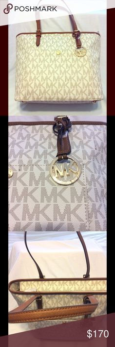 MICHAEL Michael Kors Large Jet Set. MICHAEL Michael Kors Large Jet Set Pocket Tote in Vanilla, brand new never carried with tags kept in bag since purchase. This is the large one not the small. MICHAEL Michael Kors Bags Totes