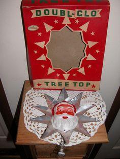 Vintage Santa Topper
