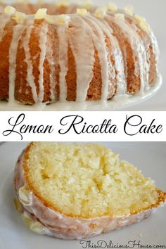 and delicious Lemon Ricotta Bundt Cake is the perfect Italian dessert. Lig Moist and delicious Lemon Ricotta Bundt Cake is the perfect Italian dessert. -Moist and delicious Lemon Ricotta Bundt Cake is the perfect Italian dessert. Dessert Cannoli, Tiramisu Dessert, Oreo Dessert, Appetizer Dessert, Dessert Food, Potluck Desserts, Holiday Desserts, Delicious Desserts, Easy Italian Desserts