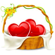 A basket of hearts is a lovely reminder that you care about someone.