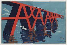 Mihály Biró, AXA Abadie. Lithograph, 1923-24