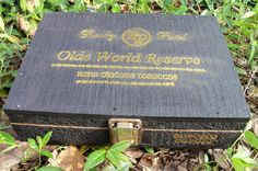 Rustic Wood Chest Black & Gold Old World Reserve Cigar Box, $12.80 Our etsy shops: http://www.etsy.com/shop/artdesignsbydanielle  http://www.etsy.com/shop/IndustrialPlanet http://www.etsy.com/shop/AntiquesandVaria http://www.etsy.com/shop/ArtEphemeraButtons http://www.etsy.com/shop/TheraputicEssentials http://www.etsy.com/shop/AncientHillsWood