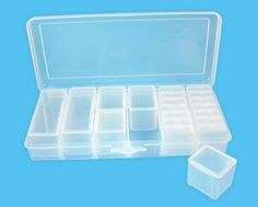 Bead Landing™ Rectangle Box with Dividers - De- pot and can store same 2 color lipsticks in each mini container= 40 lipsticks and 20 colors