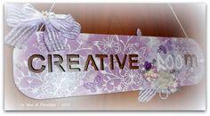 LE IDEE DI PENELOPE: La targa della mia stanza creativa