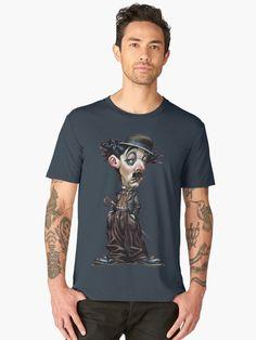 « Charlot, charlie chaplin, acteur, humour, comédien, actor » par LEAROCHE Charlie Chaplin, T Shirt, Actors, Mens Tops, Fashion, Humor, Supreme T Shirt, Moda, Tee Shirt