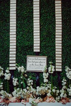 Garden-Inspired Hanging Escort Card Display | Blume Photography https://www.theknot.com/marketplace/blume-photography-athens-ga-648515