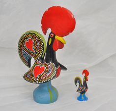 2 Portuguese Roosters - Symbol of Good Luck, National Image of Portugal. €12.00, via Etsy.