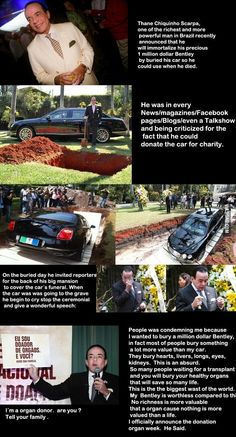 The guy buries a one-million-dollar car, yet what he says in the end blows your mind.