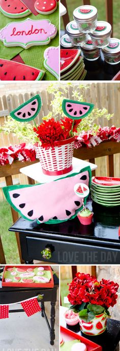 Watermelon Party Ideas by Lindi Haws of Love The Day