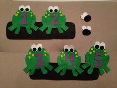 5 Little Speckled Frogs  Felt Story Board Set by Lolerfly on Etsy, $22.00