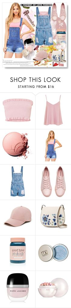 """""""overalls"""" by bellamonica ❤ liked on Polyvore featuring Topshop, Wax Jean, Boohoo, H&M, Sole Society, French Connection, Lime Crime, Marc Jacobs and Guerlain"""