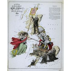Comic Map of the British Isles 1880