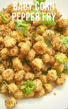 Baby Corn pepper fry is a crunchier and crispy, peppery flavored recipe which goes well with any kind of fried rice or sambar rice or rasam rice. Baby Corn Recipes, Veg Recipes, Indian Food Recipes, Vegetarian Recipes, Cooking Recipes, Healthy Recipes, Snack Recipes, Chinese Recipes