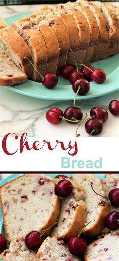 Cherry Bread,Cherry bread is such a nice change. The glaze makes it even better. Fresh chopped cherries and nuts give it just the right blend. You can eat the yumm. Sweet Cherry Recipes, Cherry Desserts, Fruit Recipes, Baking Recipes, Nutella Recipes, Fresh Cherry Bread Recipe, Recipes With Fresh Cherries, Bread Recipes, Canned Cherries