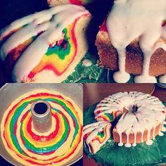 Make anyone Grateful with a Tie-Dye Cake! Cupcakes, Cupcake Cakes, Gorgeous Cakes, Amazing Cakes, Tie Dye Cakes, Cake Creations, Creative Cakes, Cakes And More, No Bake Cake