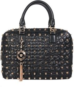 Versace Bag Leather and Studs - Lyst