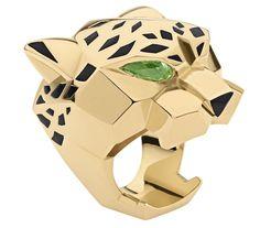 Panther ring w/ peridot eyes / Cartier