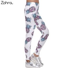 5.84$  Watch now - Zohra High Elasticity Fruit Printed Fashion Slim Fit Legging Workout Trousers Casual Pants Leggings For Women   #aliexpress