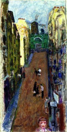 bofransson:  The rue Tholozé and the Moulin de la Galette, Pierre Bonnard, 1898 [1891~1900]