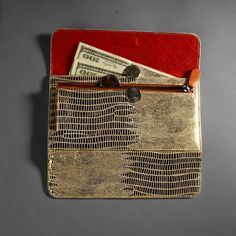 Gold and white Ipanema Womens Wallets