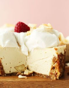 White Chocolate Macadamia Nut Cheesecake. Get the recipe.
